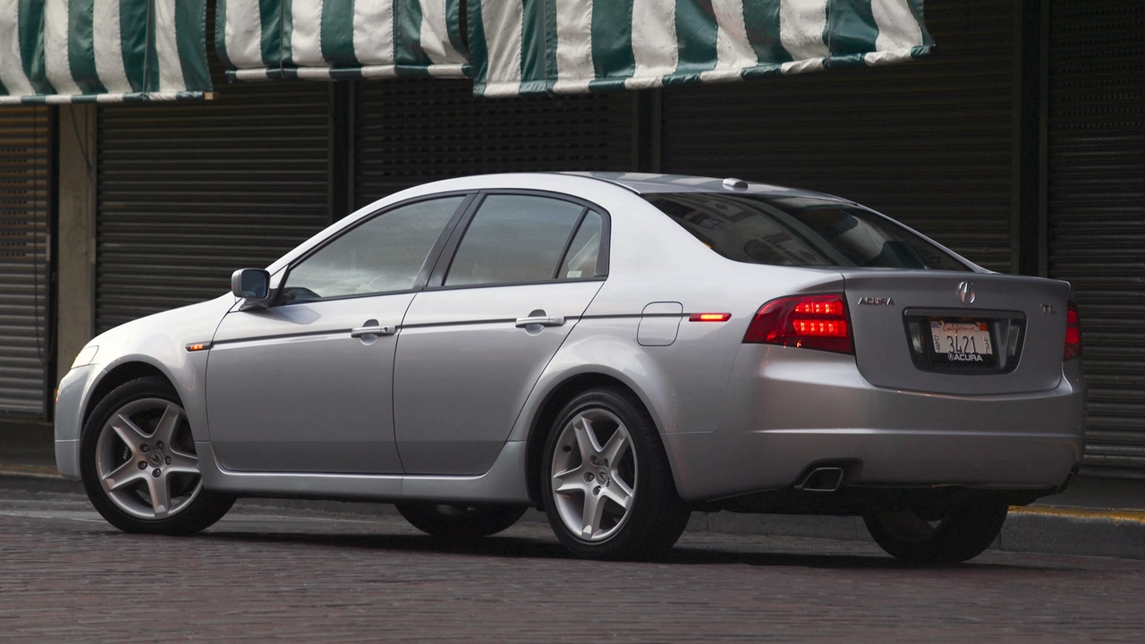 Preview wallpaper 2004, acura, asphalt, cars, side view, silver metallic, street, style, tl