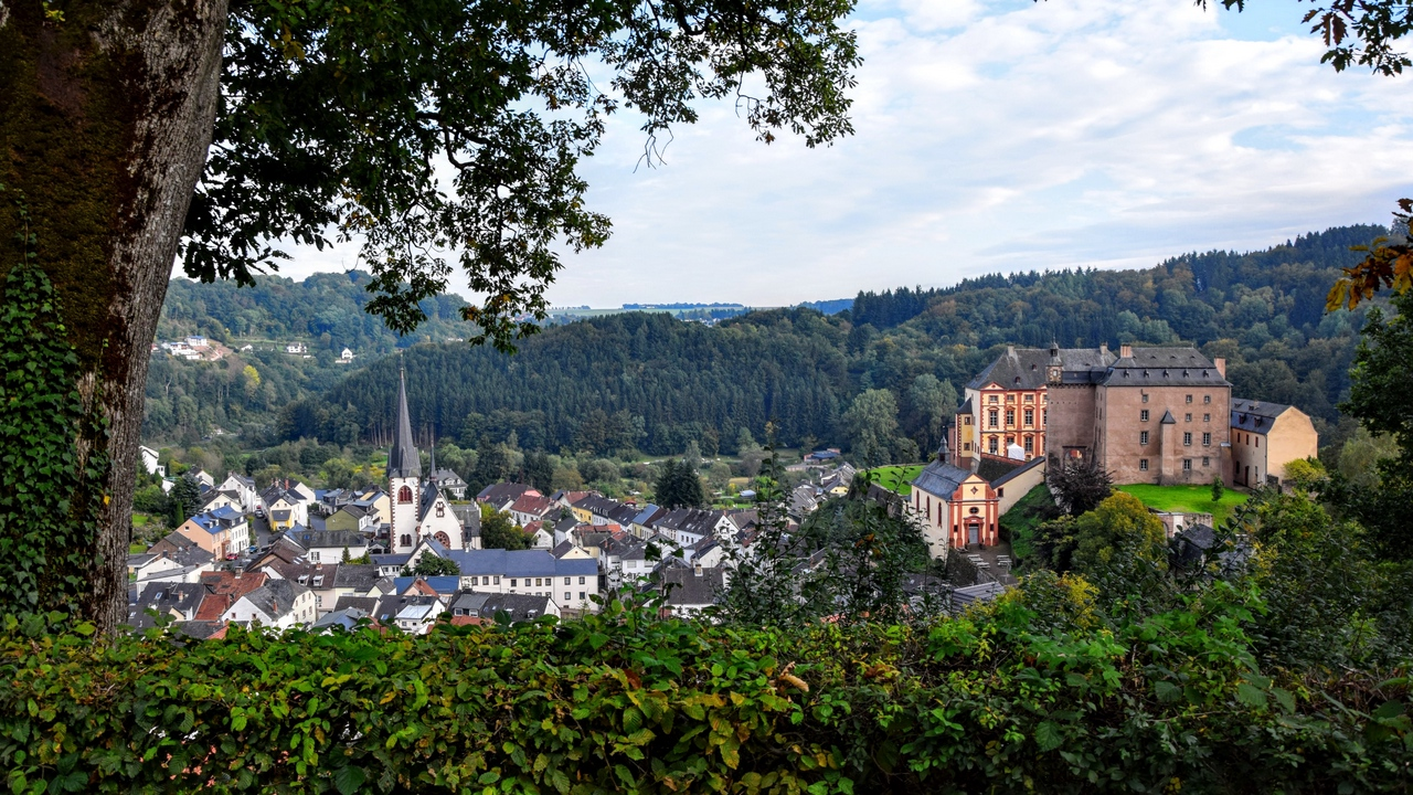 Preview wallpaper architecture, buildings, germany, malberg, trees