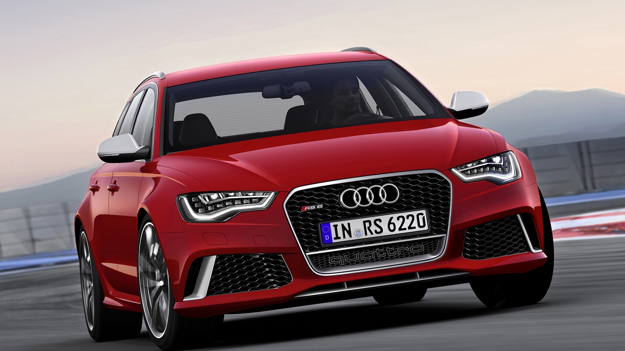 Preview wallpaper audi, front bumper, red, rs6