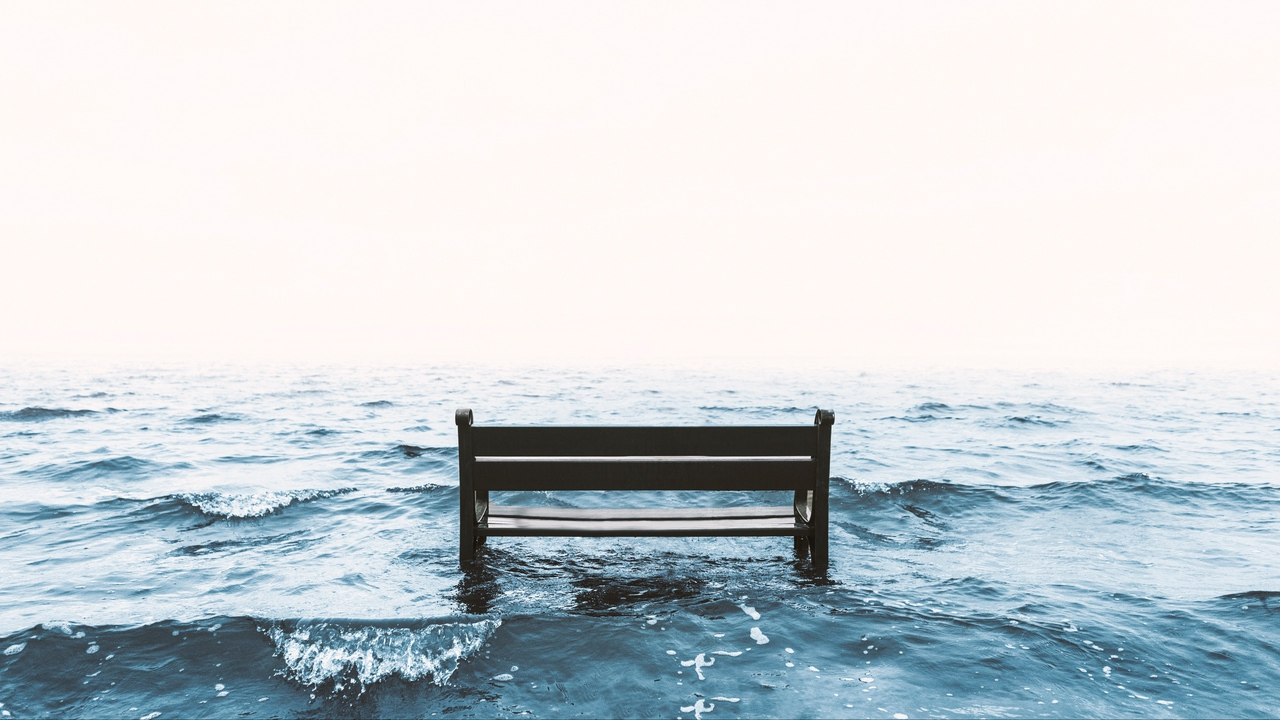 Preview wallpaper bench, sea, surf