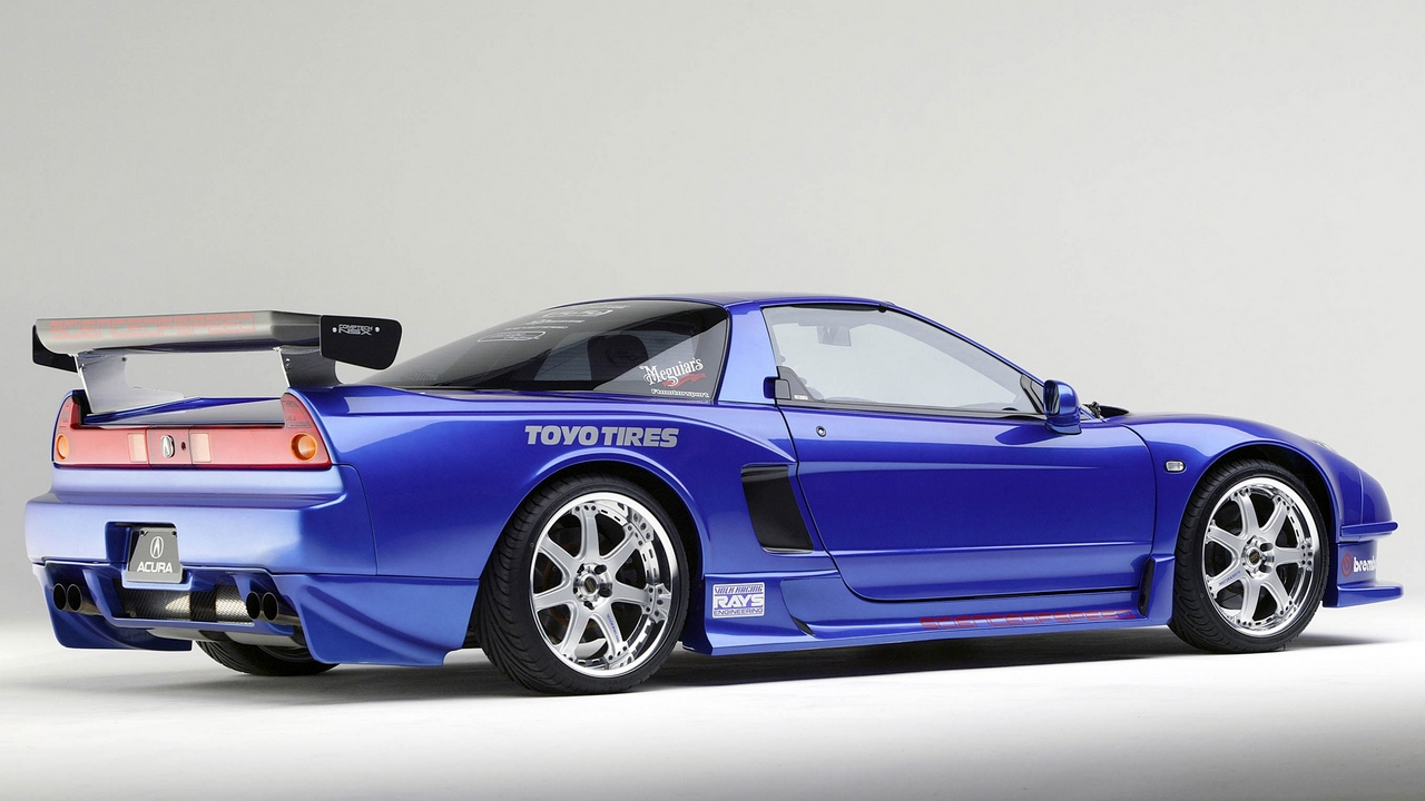 Preview wallpaper acura, blue, nsx, side view, sports, style