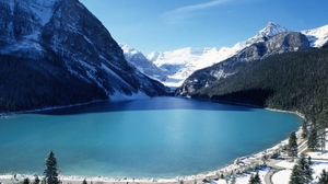 Preview wallpaper blue water, freshness, height, lake, mountains, purity