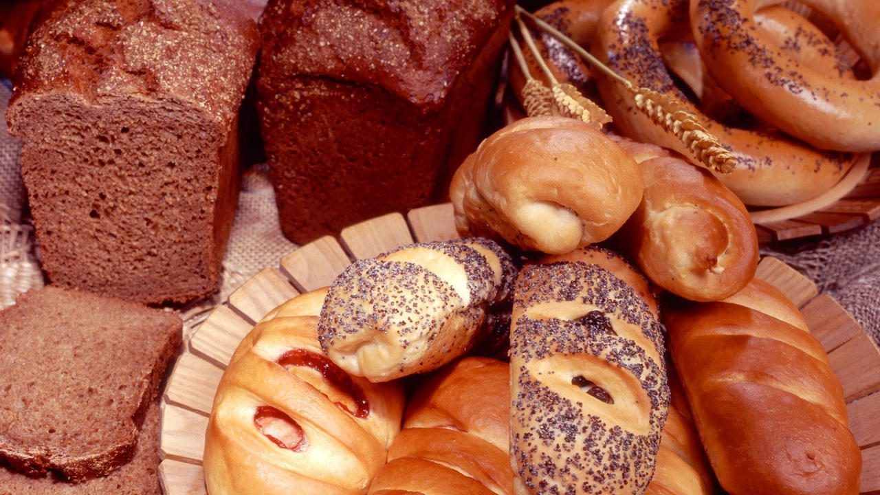 Preview wallpaper bread, jam, pastries, poppy seeds
