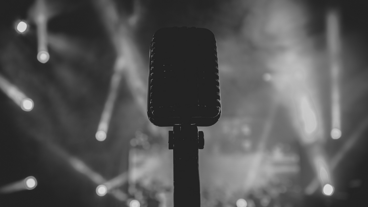 Preview wallpaper audio, bw, microphone