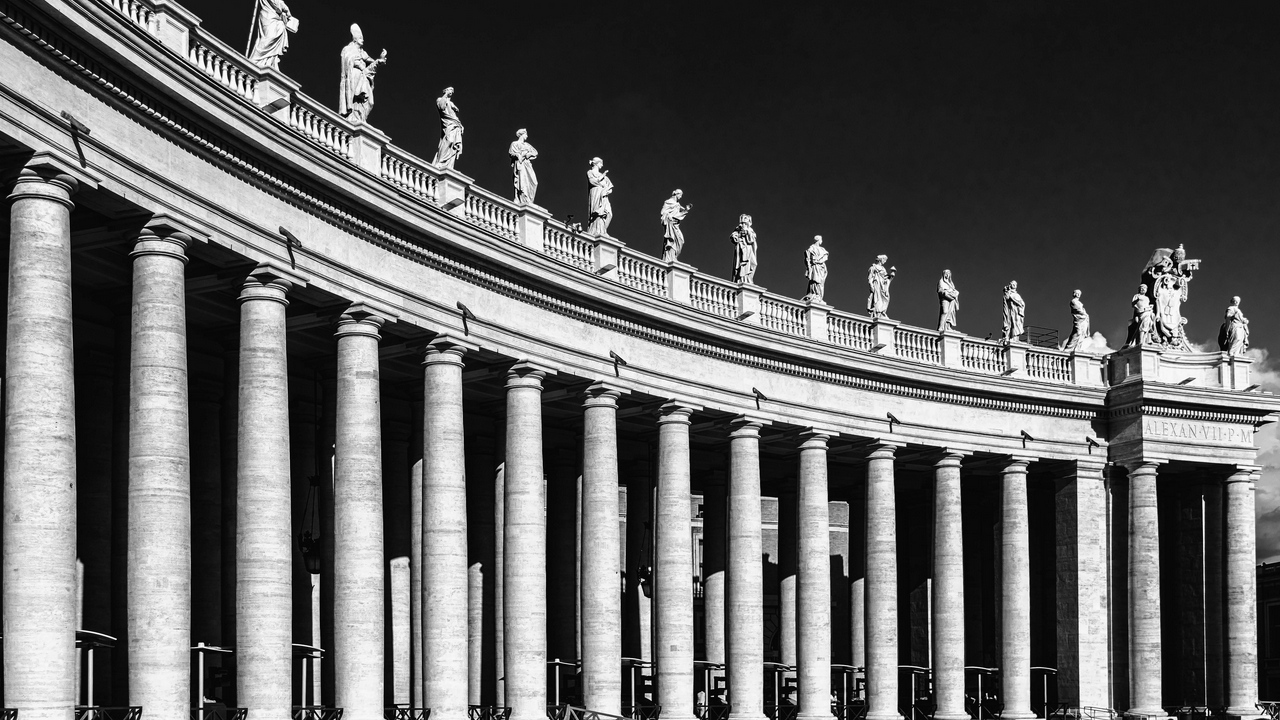 bw rome italy st peters square