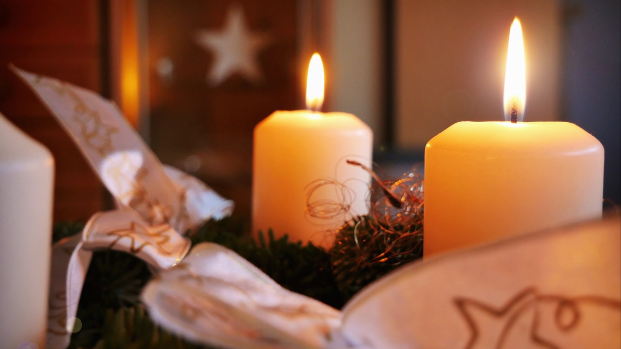 Preview wallpaper candles, christmas, new year