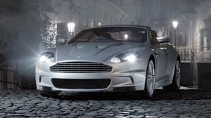 Preview wallpaper 2008, aston martin, cars, dbs, front view, gray, street, style