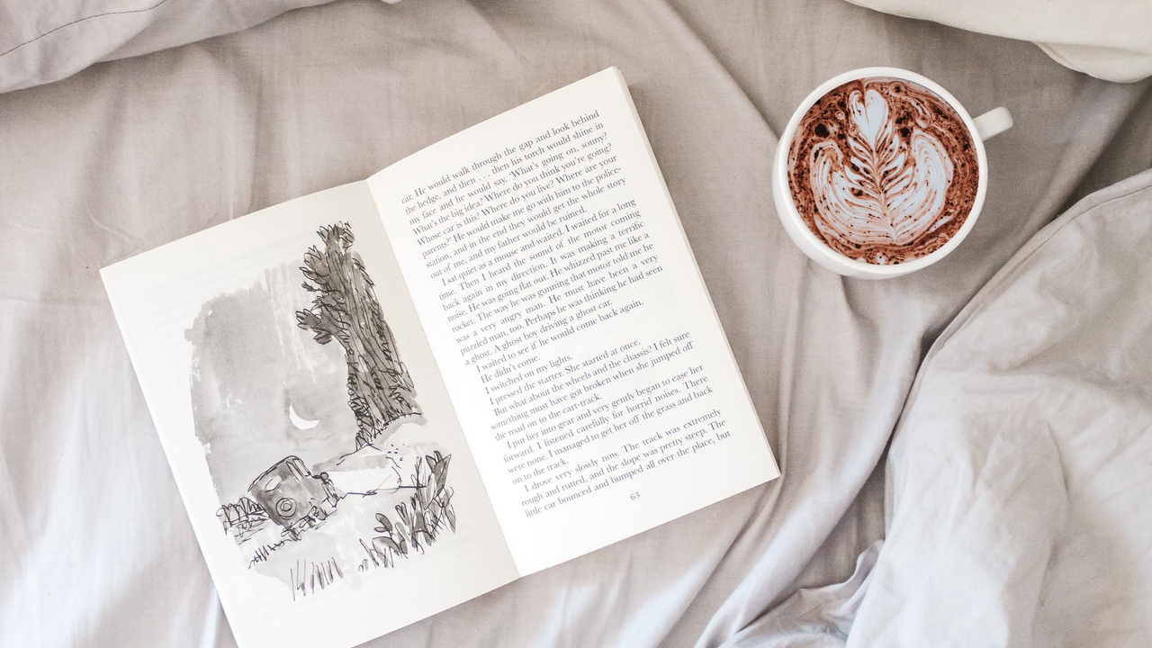 Preview wallpaper bed, book, coffee, comfort, cup