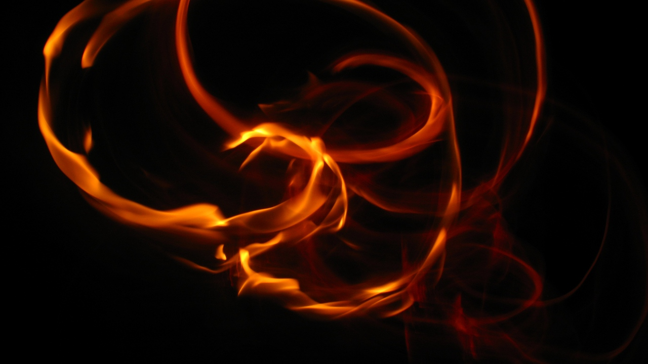 Preview wallpaper bright, darkness, fire, flame, night, turns