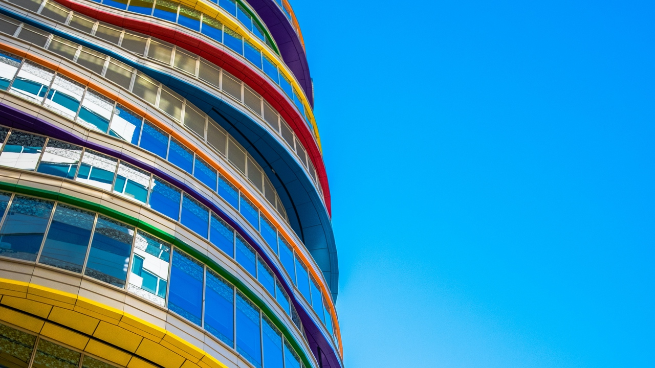 Preview wallpaper architecture, building, colorful, facade, modern