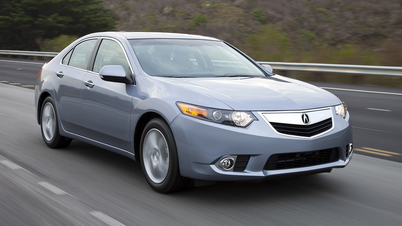 Preview wallpaper 2010, acura, blue, cars, front view, nature, speed, style, tsx