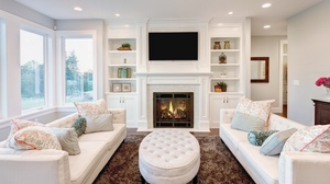 Preview wallpaper cabinets, furniture, interior, living room, sofas