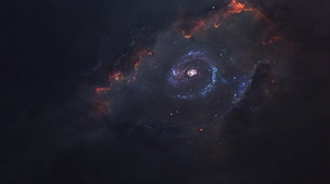 Preview wallpaper funnel, galaxy, space, starry sky, universe