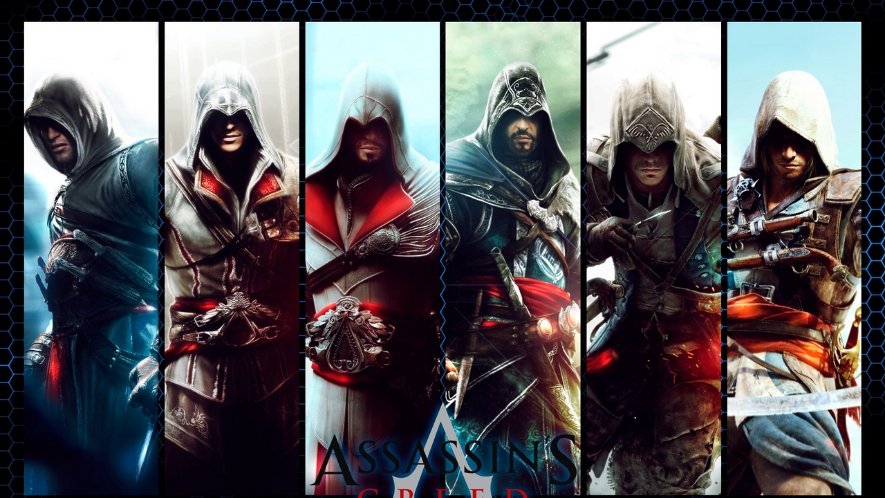 Preview wallpaper characters, collage, game