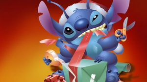 Preview wallpaper christmas, gift, new year, stich