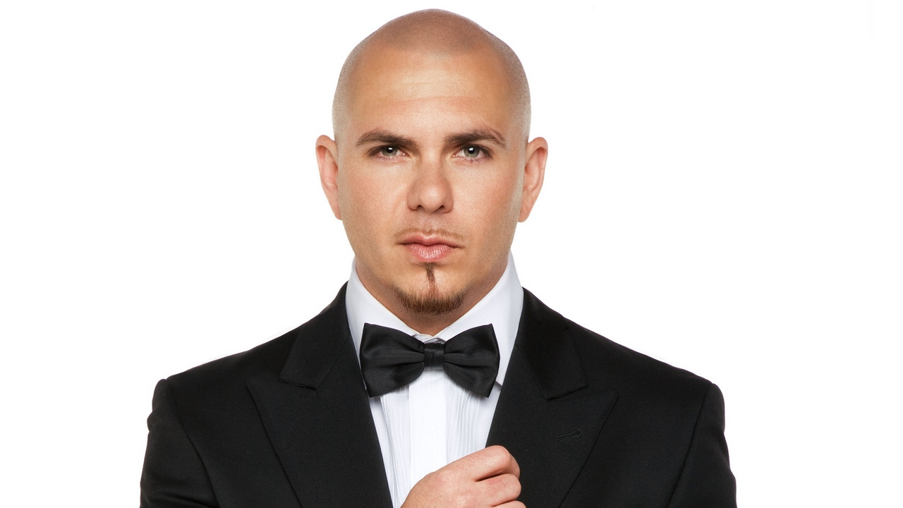 Preview wallpaper bald, hand, look, pitbull, suit