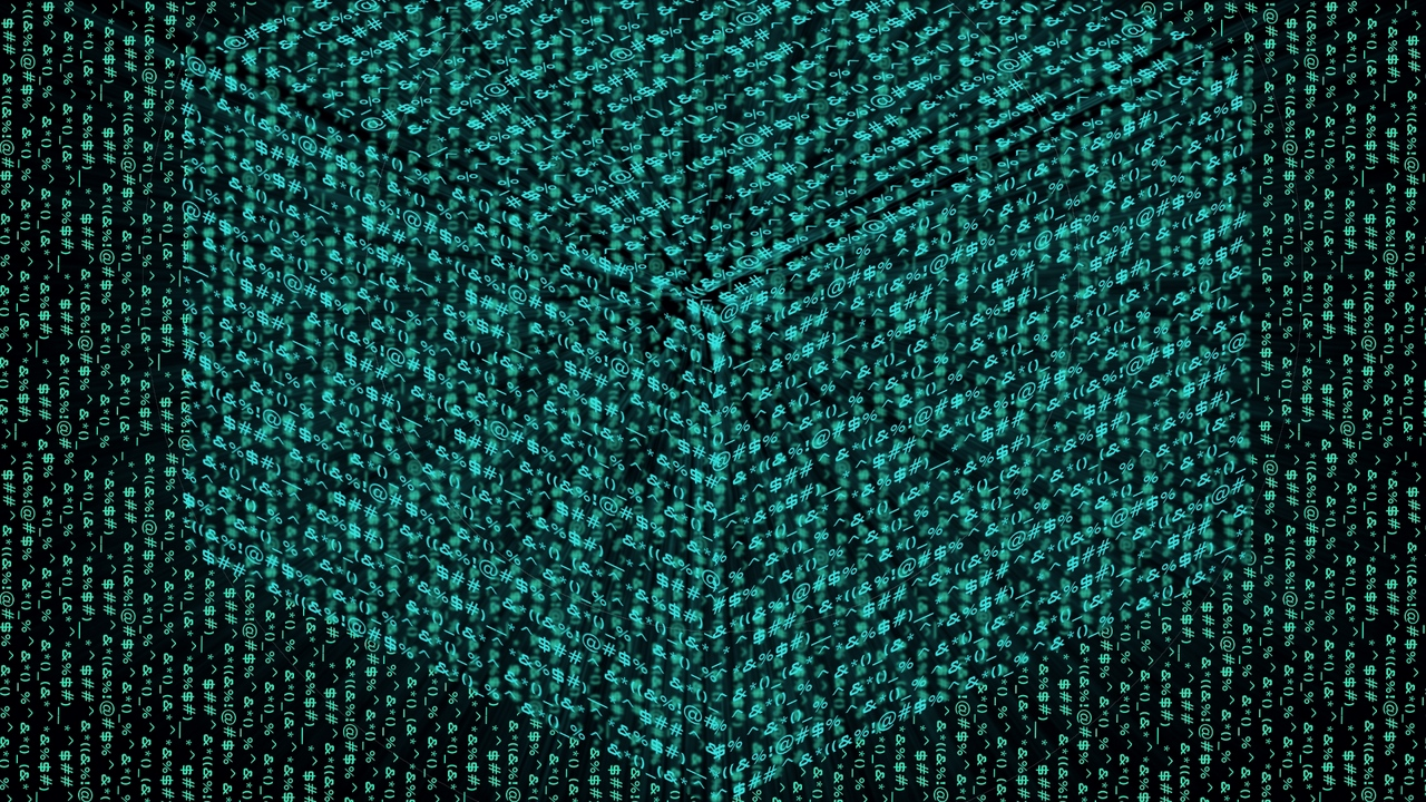 Preview wallpaper abstraction, black, cube, green, illusion
