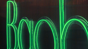 Preview wallpaper green, letters, light, neon, sign, text