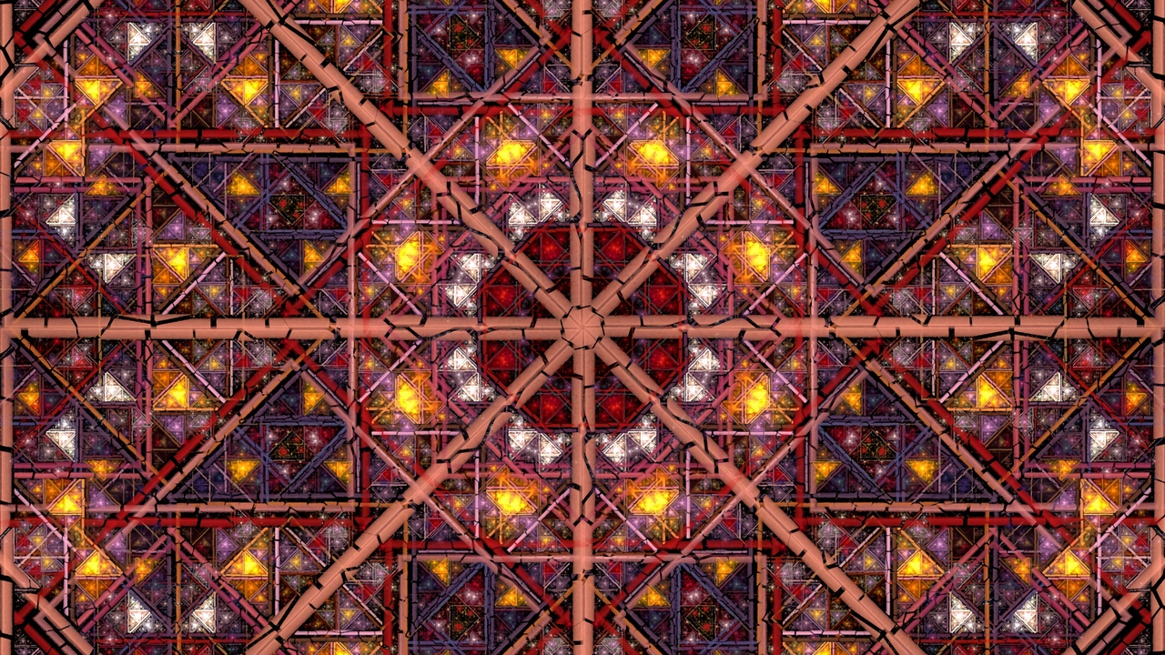 Preview wallpaper colorful, fractal, geometric, lines, pattern