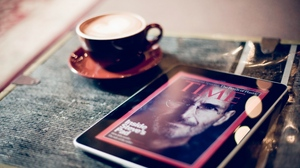 Preview wallpaper apple, coffee, cup, ipad, magazine