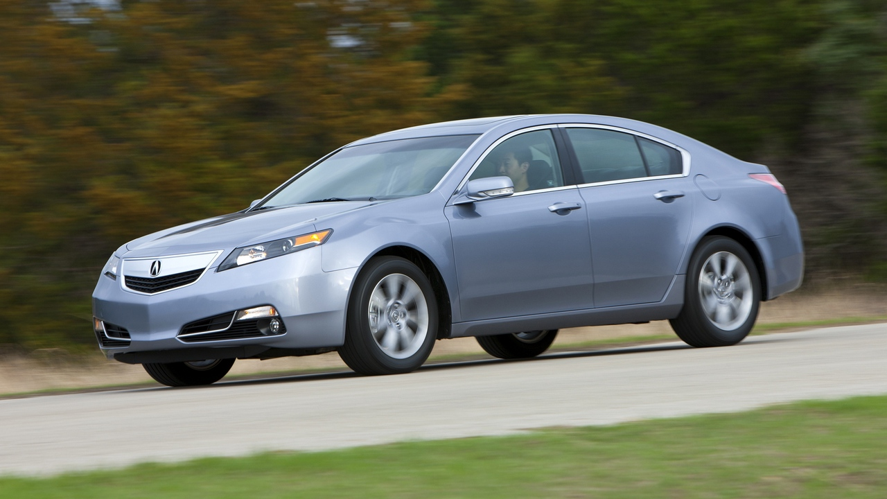 Preview wallpaper 2011, acura, blue metallic, cars, grass, nature, side view, speed, style, tl, trees