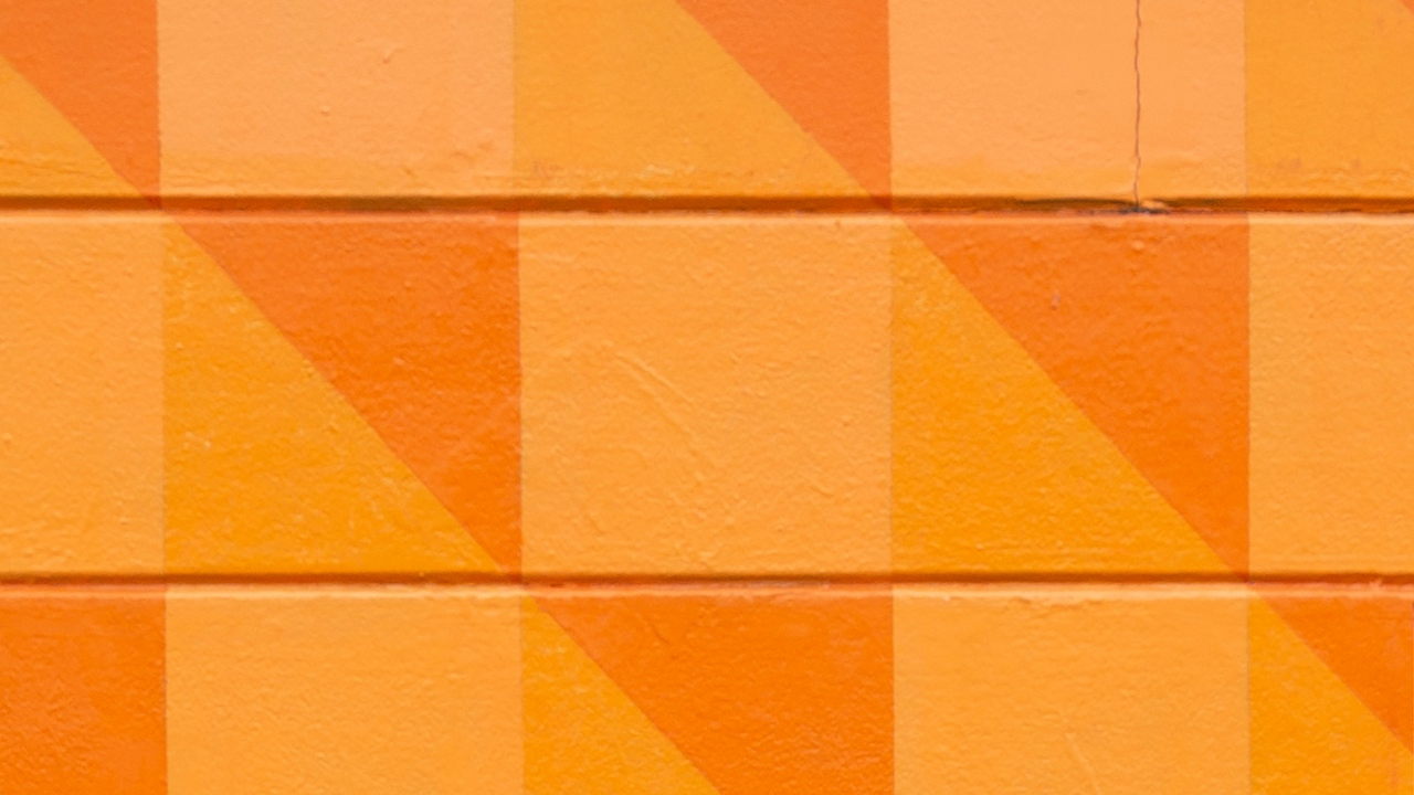 Preview wallpaper orange, pattern, squares, texture, wall