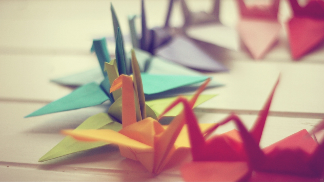 Preview wallpaper background, close-up, crane, origami, paper, photo