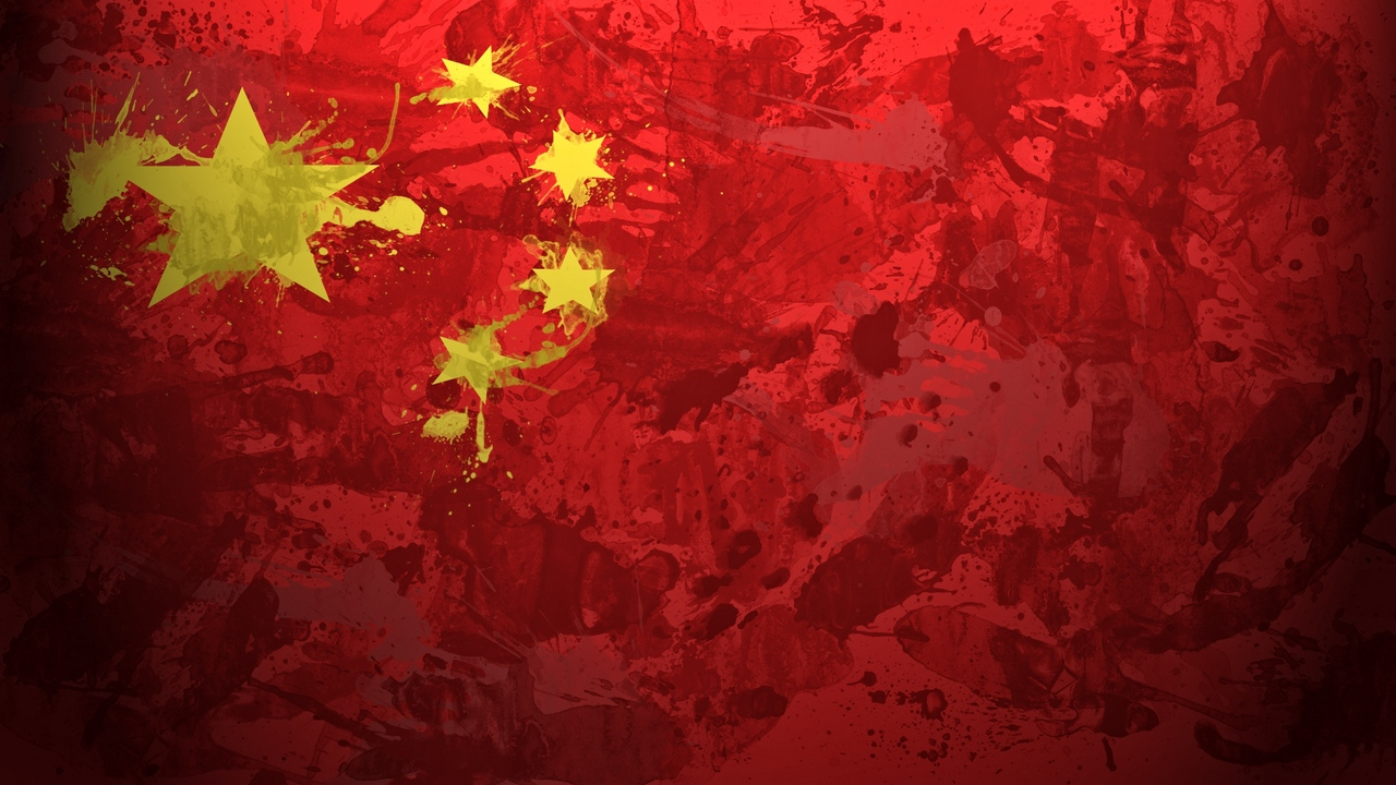 Preview wallpaper background, china, flag, paint, stains, texture