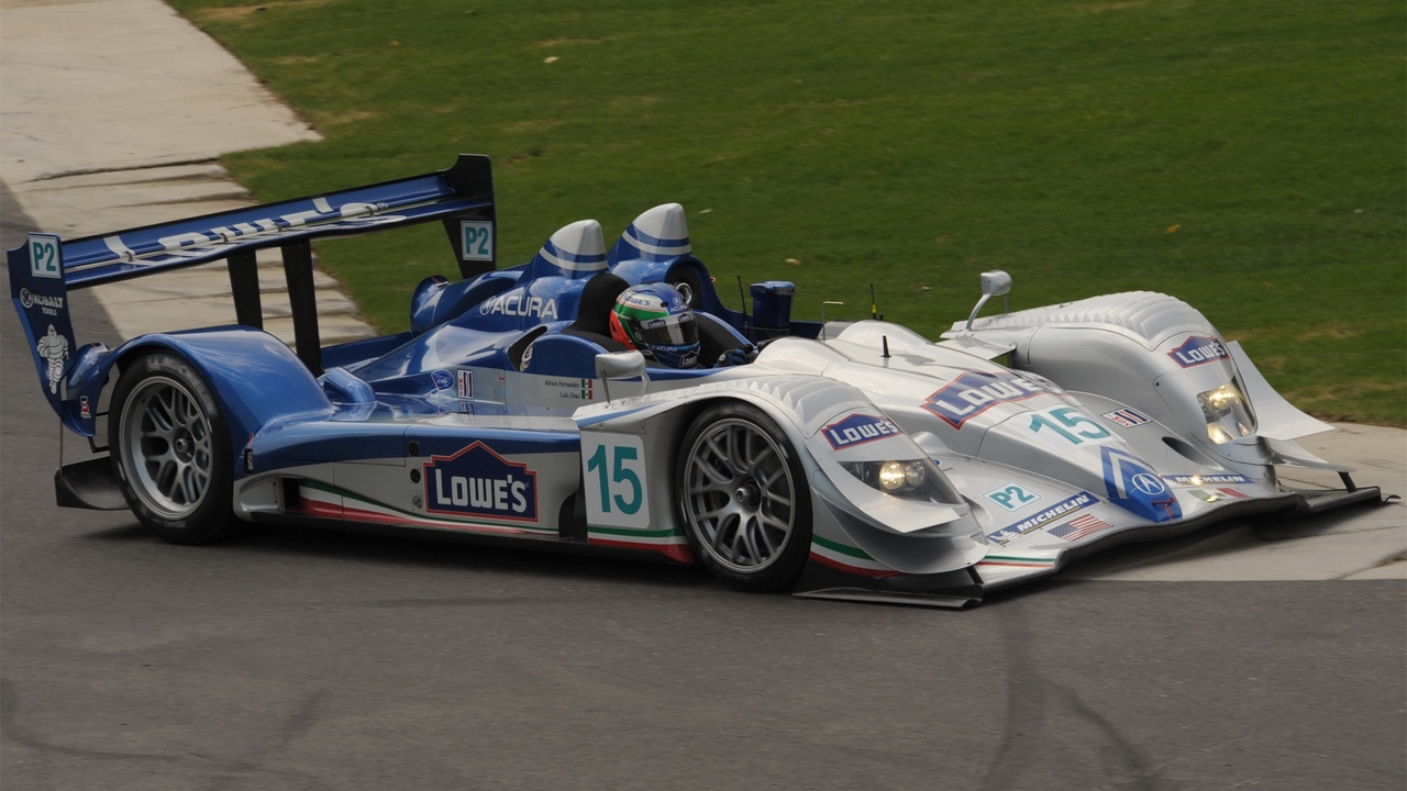 Preview wallpaper acura, arx-01, auto, blue, bolide, pilot, race, rotate, side view, white
