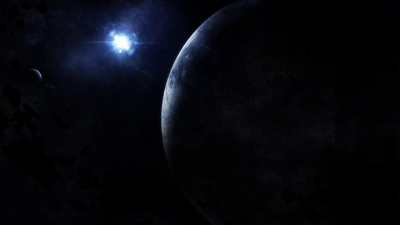 Preview wallpaper light, planet, rays, space