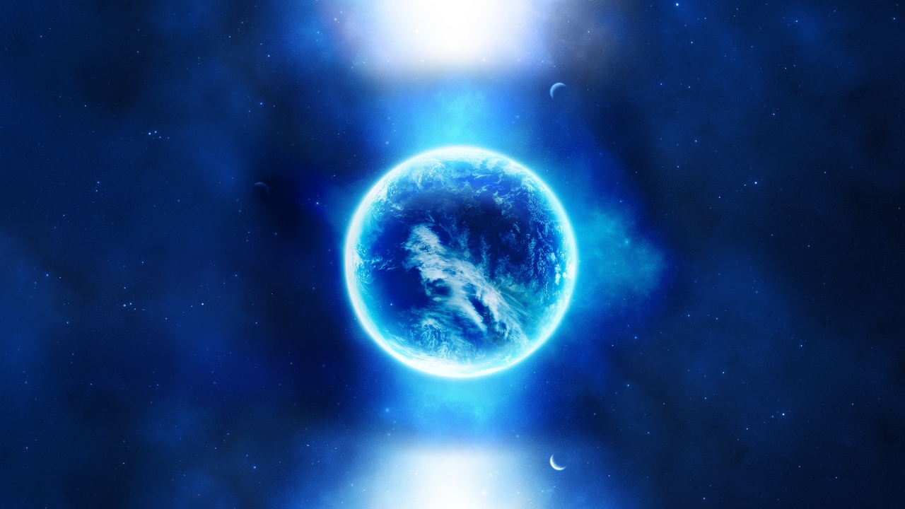 Preview wallpaper light, planet, point