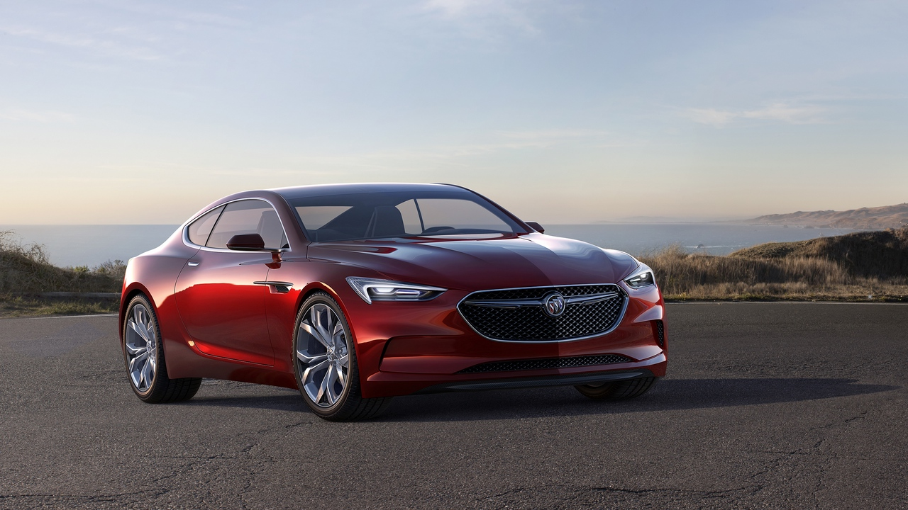 Preview wallpaper avista, buick, concept, red, side view