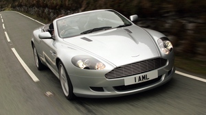 Preview wallpaper 2004, aston martin, cars, db9, front view, silver metallic, speed