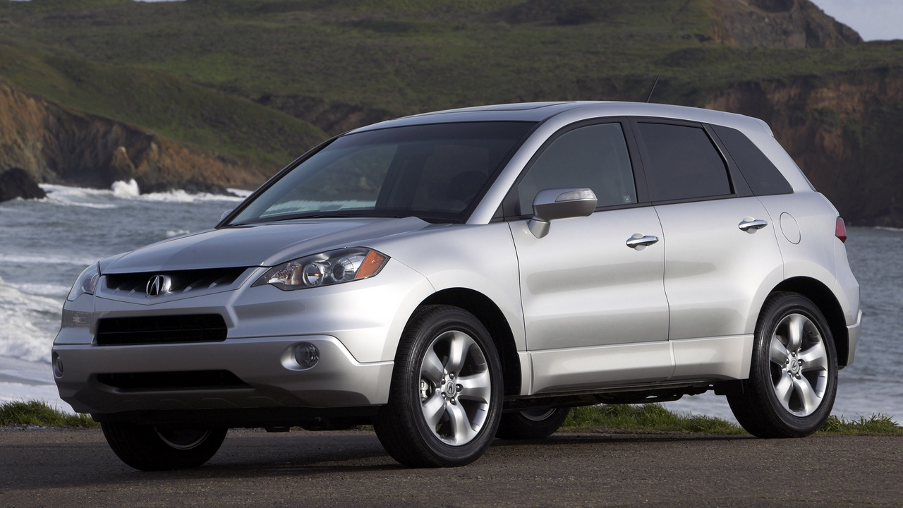 Preview wallpaper acura, cars, front view, nature, rdx, silver metallic, style, water