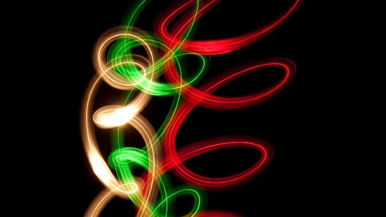 Preview wallpaper line, neon, spiral, twisted