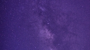 Preview wallpaper lilac, night, starry sky, stars