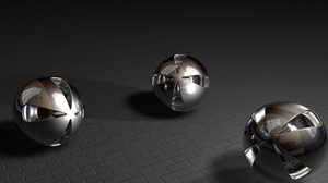 Preview wallpaper balls, metal, shape, smooth, stone, surface, three