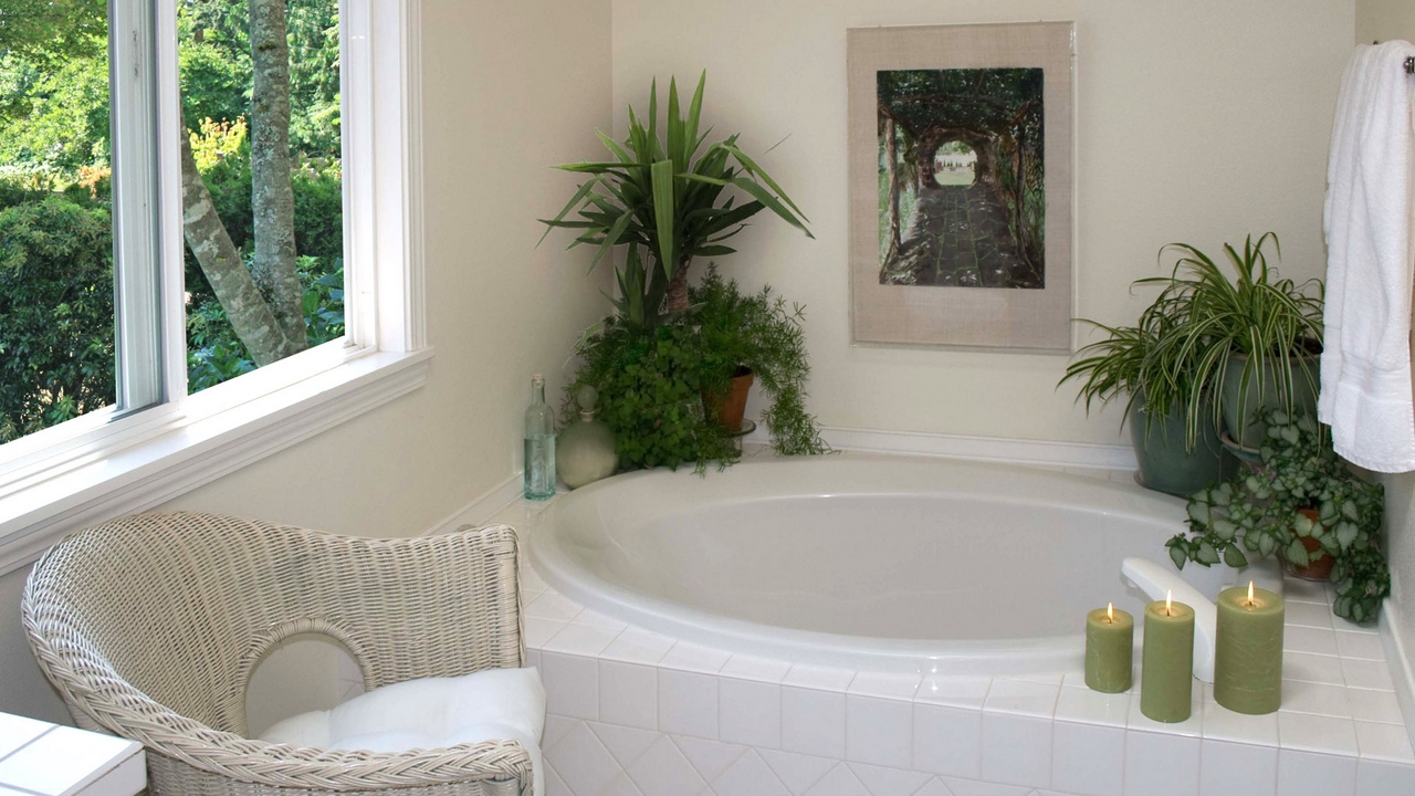 Preview wallpaper bathroom, chair, comfort, style