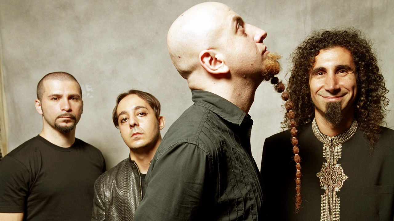 Preview wallpaper bald, band, beard, haircut, system of a down