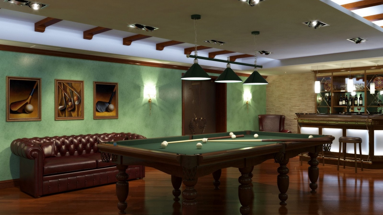 Preview wallpaper billiards, game, room, table