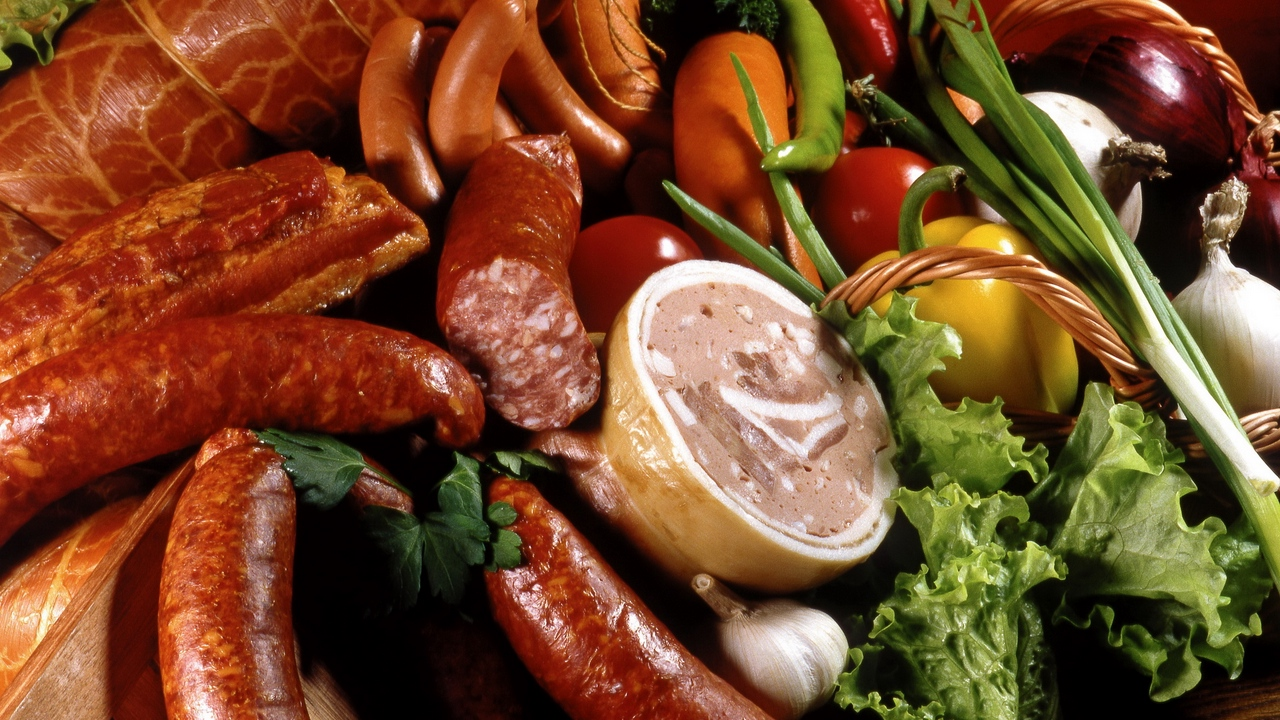 Preview wallpaper meat, meats, sausage, tasty