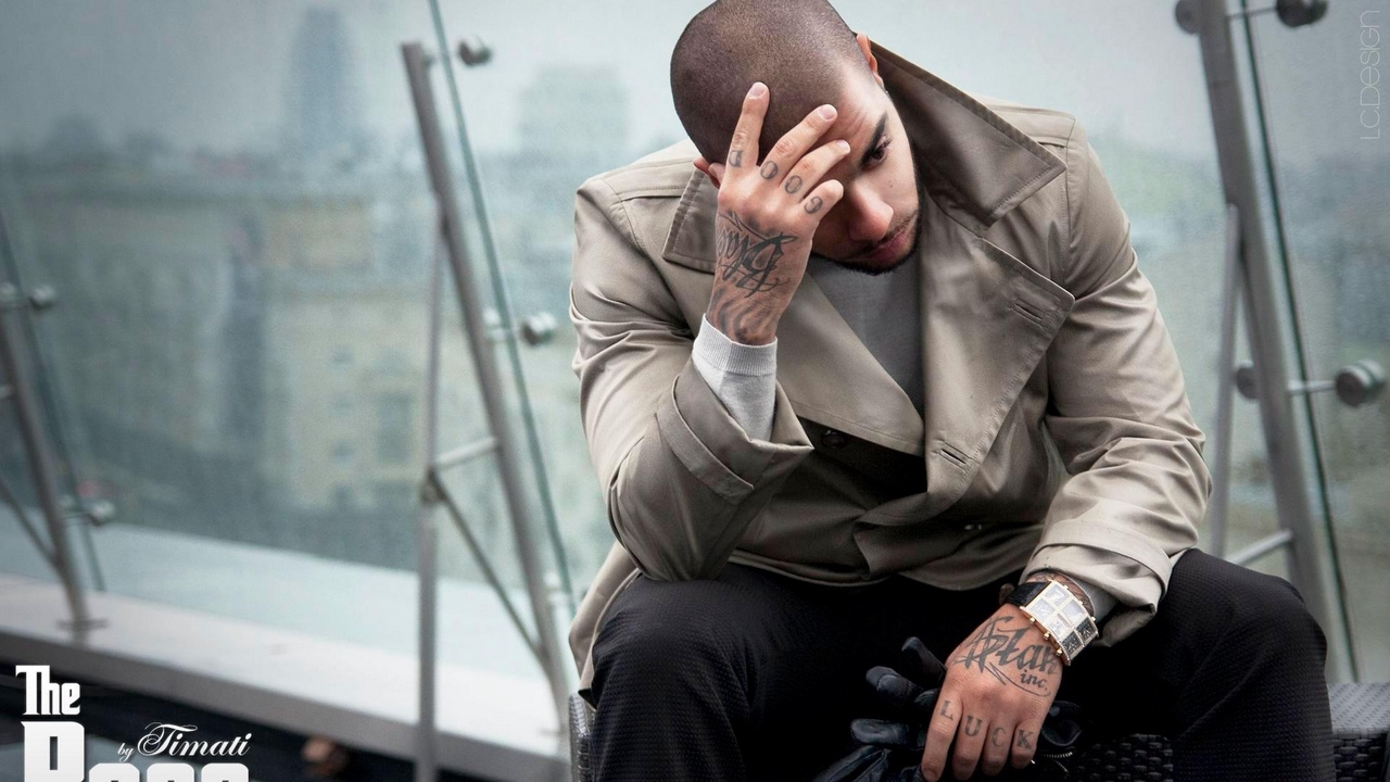 Preview wallpaper city, gloves, tattoo, timati, watches