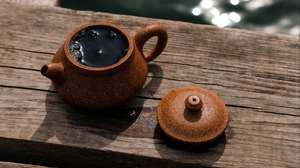 Preview wallpaper clay, dishes, drink, tea, teapot