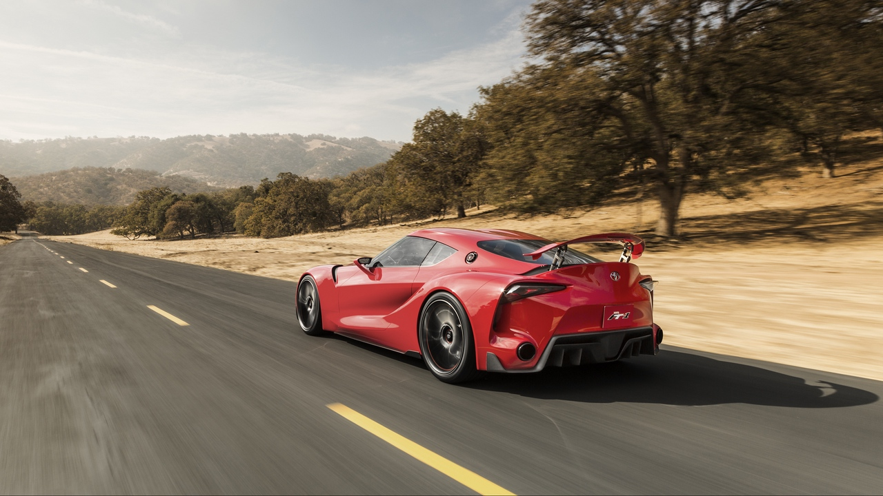 toyota ft-1 concept car speed side view