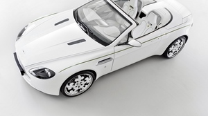 Preview wallpaper 2010, aston martin, cabriolet, style, top view, v8, vantage, white