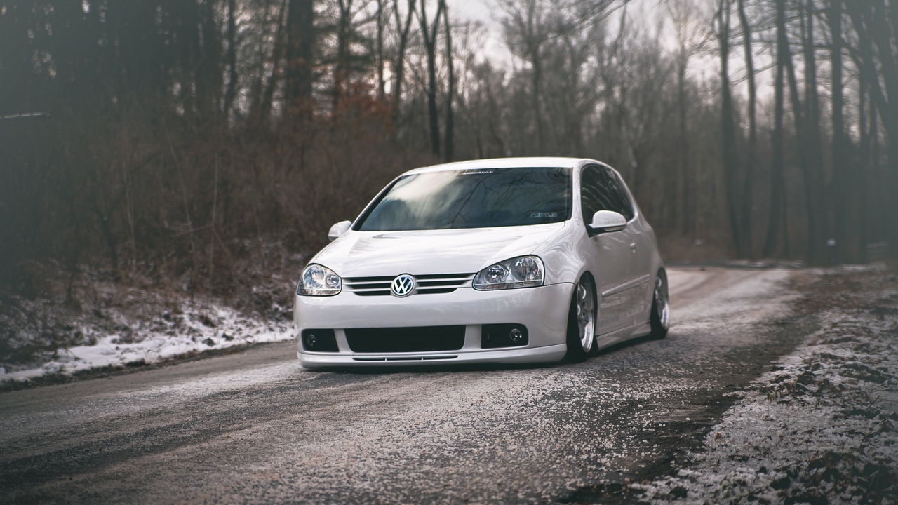 Preview wallpaper golf, gti, tuning, volkswagen, white