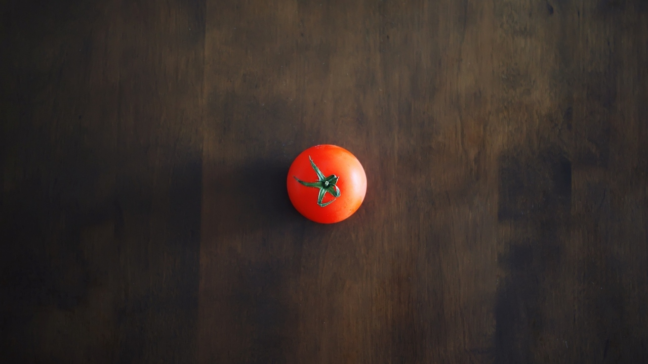 Preview wallpaper background, minimalism, red, shadow, table, tomato, wall