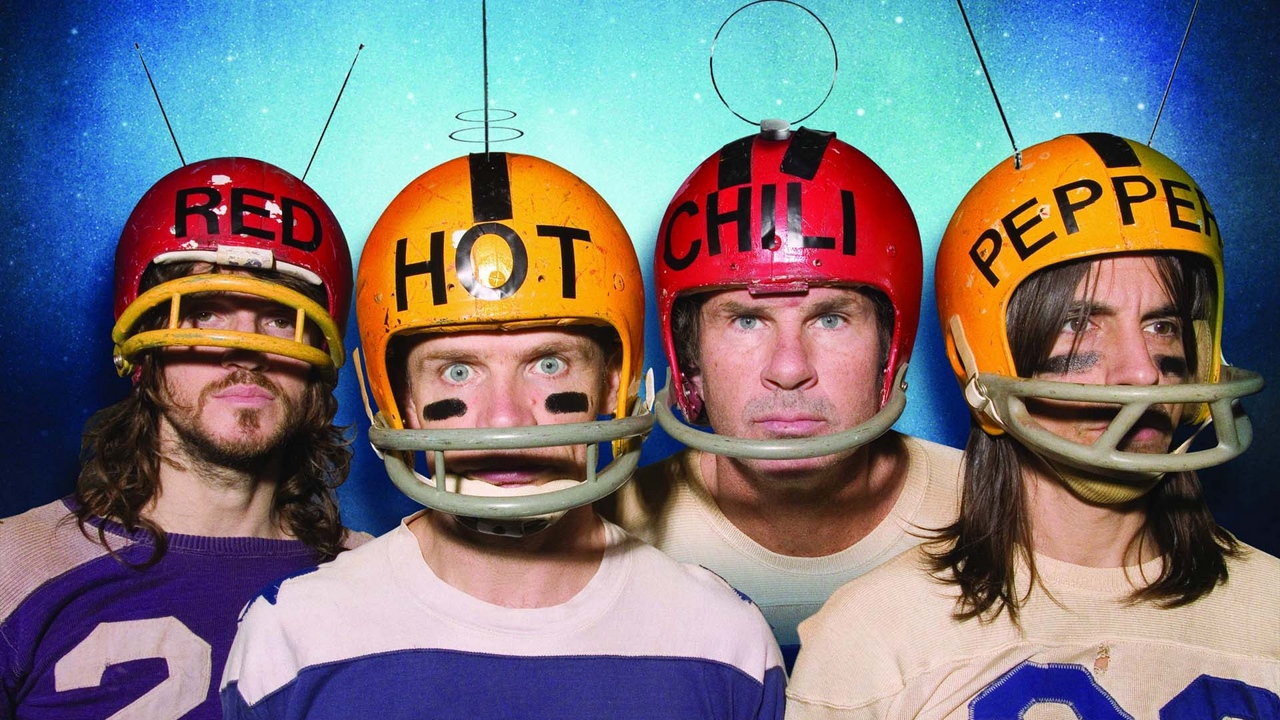 Preview wallpaper band, helmets, members, red hot chili peppers, words