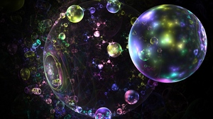 Preview wallpaper abstraction, bubbles, colorful, fractal, glare