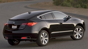 Preview wallpaper 2009, acura, black, cars, nature, rear view, style, zdx